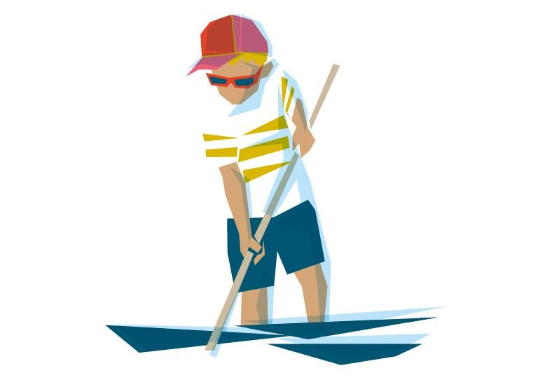 Pêche à pied, Crédit dessin : © MARCELINE Communication