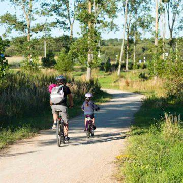 La vélodyssée passe par les marais de Talmont-Saint-Hilaire