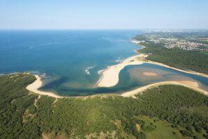 Vue aérienne de la plage du Veillon - ©V. Joncheray