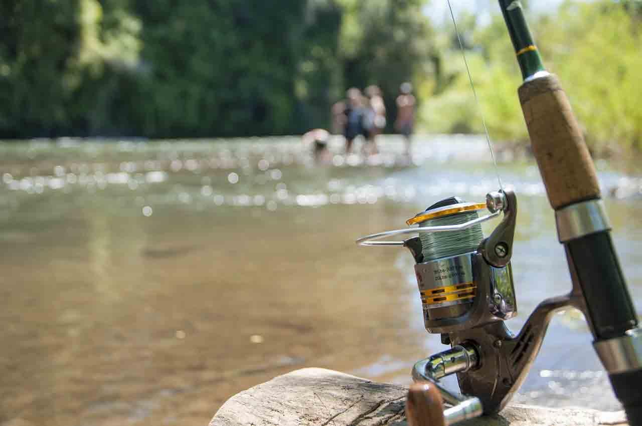 Canne à pêche rivière