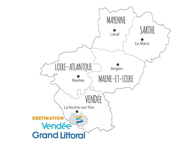 La destination Vendée Grand Littoral en Pays de la Loire