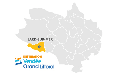 Situation de Jard-sur-Mer en Vendée Grand Littoral