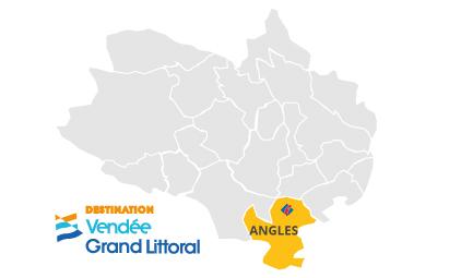 Situation d'Angles en Vendée Grand Littoral