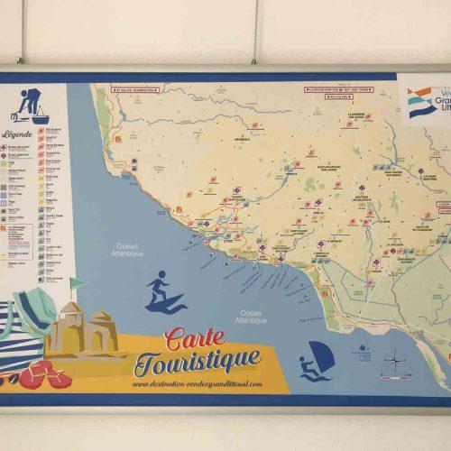 Office de tourisme de Bourgenay Vendée carte