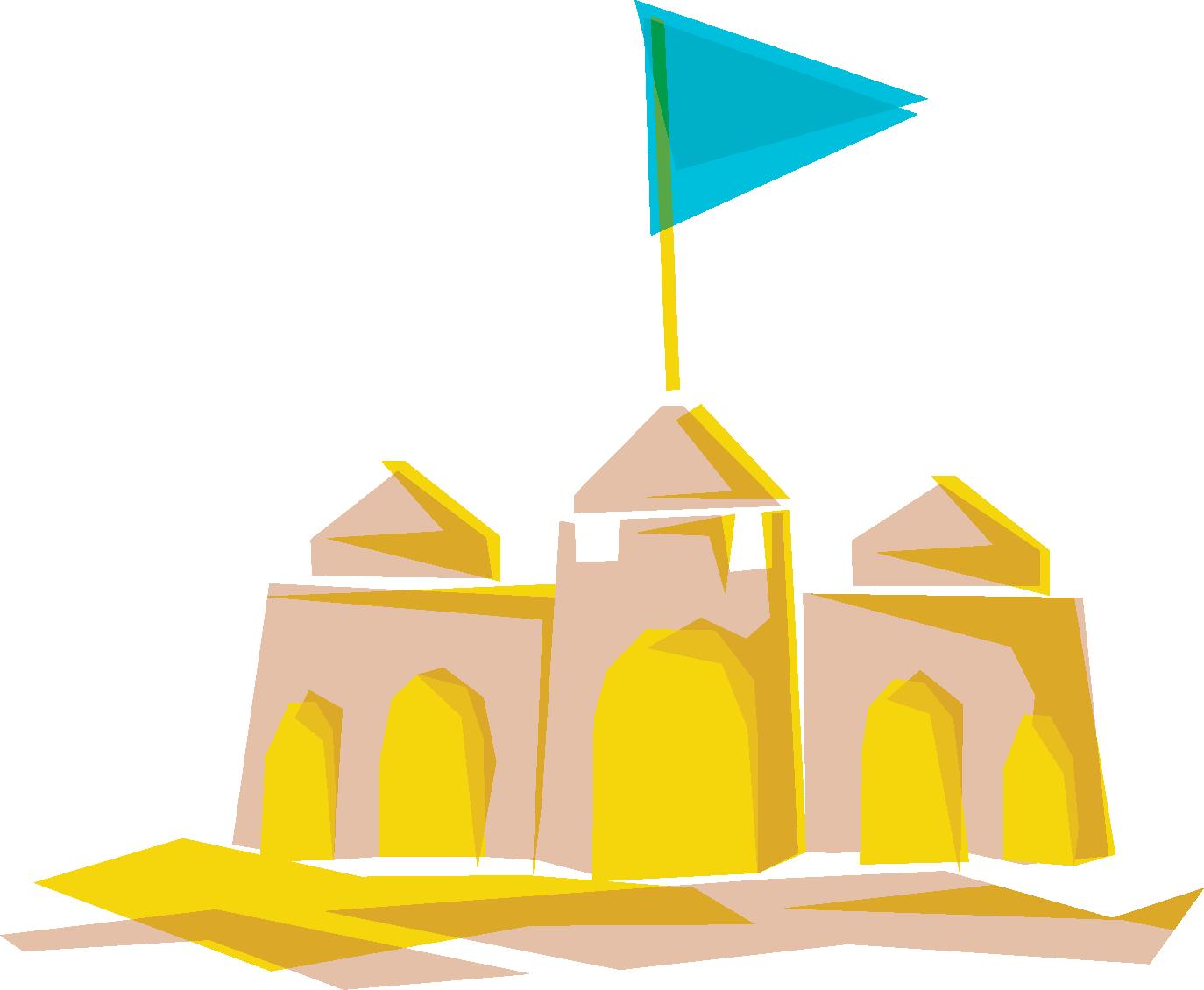 Château de sable - Dessin Marceline