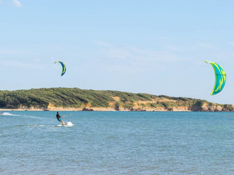 Photo de kitesurf au Veillon
