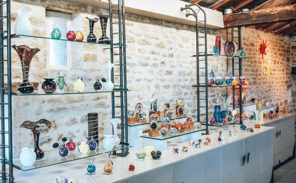 Espace d'exposition du souffleur de verre de Bourgenay