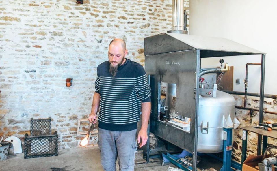 Valerien démonstration souffleur verre à Bourgenay