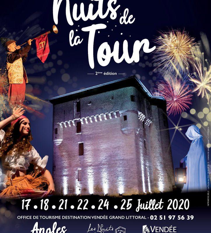 Les Nuits de la Tour 2020 - Angles - Tour de Moricq