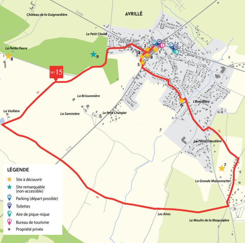 Circuit des Menhirs et Dolmens - Avrillé