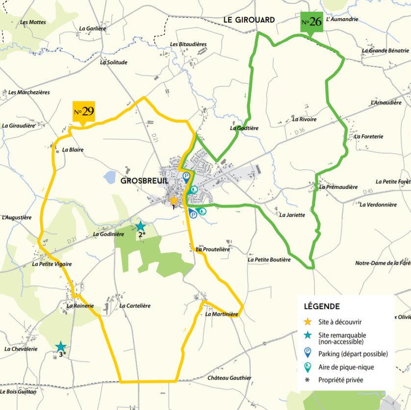 Circuits Grobreuil La Vertonne et la Bénatonnière