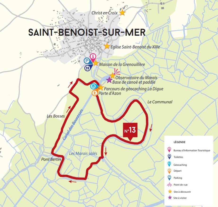 Circuit de la Digue Saint-Benoist-sur-Mer