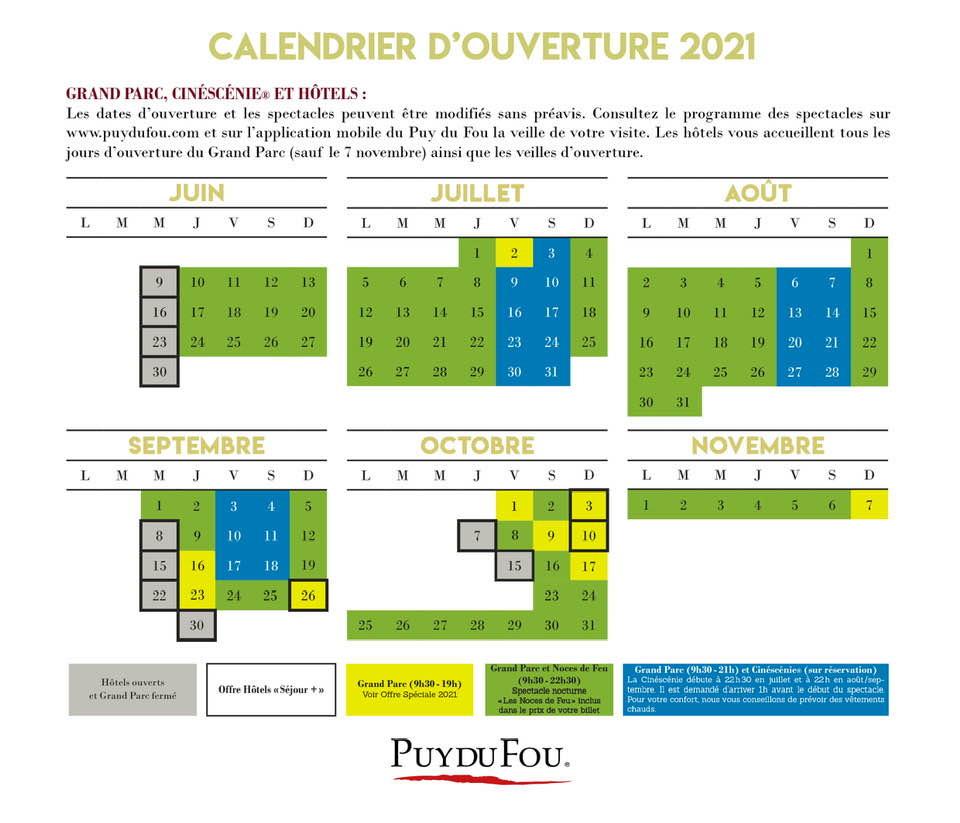 Ouverture Puy du Fou 2021
